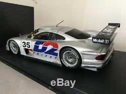 MERCEDES CLK LM N°35 Le Mans 1998 argent / silver Autoart 1/18 CLK GTR