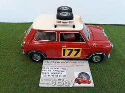 MORRIS MINI COOPER 1275S MKI RALLY MONTE CARLO # 177 Rallye 1967 rge 1/18 KYOSHO