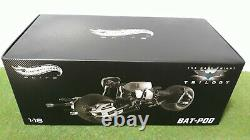 MOTO BAT-POD THE DARK KNIGHT TRILOGY BATMAN 1/18 HOT WHEELS ELITE X5471 miniatur