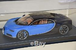 MR MRCBUG06A Bugatti Chiron Le Patron Bleu clair Bugatti sport 2016 1/18