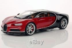 MR MRCBUG06B Bugatti Chiron Nocture / rouge Italien 2016 1/18