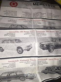 Mebetoys Fiat 1100 R A9 Originale Box Catalogo Simile Politoys
