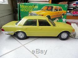 Mercedes 450 SE W116 Gama filoguidée 42cm boite Plastique jouet miniature ancien