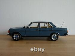 Mercedes Benz 200 berline de 1980 W123 au 1/18 de NOREV B66040675 Bleu de Chine