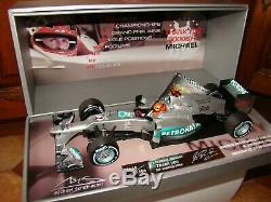 Mercedes F1 Amg Petronas M. Schumacher Brazil Final Gp 2012 1/18eme Coffret