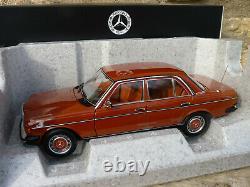 NOREV B66040653 Mercedes Benz 200 berline de 1980 W123 au 1/18 Rouge Anglais