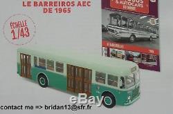 N° 74 BARREIROS AEC Autobus et Autocars du Monde année 1965 1/43 NEUF en BOITE