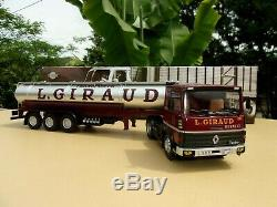 N° 85 RENAULT R310 Turboliner Camion Semi Remorque citerne GIRAUD 1/43 Neuf