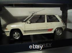 Norev Renault 5 GT Turbo Phase 2 Blanc Panda 185206 1/18