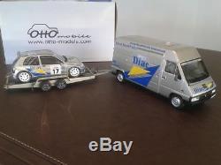 Ottomobile 1/18 Pack Rallye RENAULT Master/Clio MAXI Tour de Corse 1995 OT289