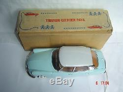 PAYA spain ancien jouet 60's auto CITROEN DS téléguidée châssis tôle joustra jep