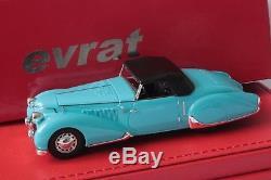 PEUGEOT 402 roadster 1937 #797280 version origine. 1/43 EVRAT limit. 60 ex