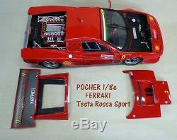 POCHER 1/8 FERRARI Testa Rossa SUPER SPORT