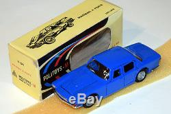Politoys-m #541 (1968) Maserati Quattroporte Raro Blu Francia Mint Boxed
