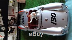 PORSCHE 550 A Spyder # 130 + FIGURINE JAMES DEAN 1/18 SCHUCO 450033200 voiture m