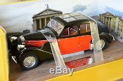 Pantheon 004 Bugatti Type 57 Galibier 1937 Toit Transparent Noir / Rouge 1/18