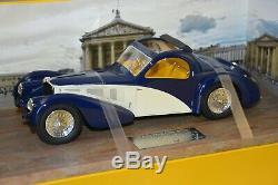 Pantheon 008 Bugatti Type 57sc Atalante 1936 Toit Ouvert Bleue/creme 1/18