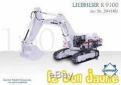 Pelle rétro LIEBHERR R 9100 EIFFAGE exclusivité limitée CONRAD 2941.01, 1/50°