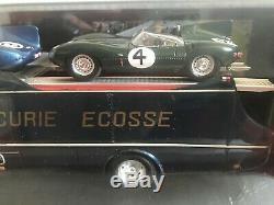 Planex 1/43 Transporter Écurie Écosse 1959 & Jaguar D # 3 & 4 Brand New Rare