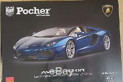 Pocher 18 HK103-Lamborghini Aventador LP 700-4 Roadster-Blu Monterrey Bausatz