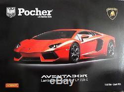 Pocher 18 Lamborghini Aventador LP 700-4, Arancio Argos OVP