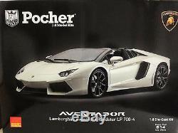 Pocher 18 Lamborghini Aventador LP 700-4 Roadster, Bianco Canopus (weiß) OVP