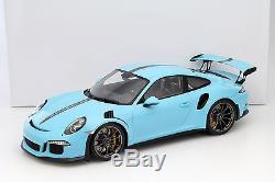 Porsche 911 (991) GT3 RS Jeux olympiques bleu avec vitrine 112 Spark