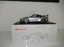 Porsche 911 (991) GT3 RS Silber Silver 118 Spark 18S233