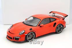 Porsche 911 (991) GT3 RS lave orange avec vitrine 112 Spark