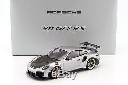 Porsche 911 (991 II) GT2 RS année de construction 2017 argent / noir avec vitri