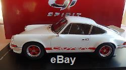 Porsche 911 Carrera RS 2,7 1973 GT SPIRIT 1/12 avec boite vitrine
