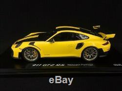 Porsche 911 GT2 RS type 991 Weissach Package jaune / noir 1/18 Spark WAP0211520J