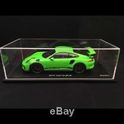 Porsche 911 GT3 RS type 991 Phase ll 2018 vert lézard 1/18 Spark WAP0211590J