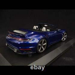 Porsche 911 Turbo S Cabriolet type 992 Bleu gentiane 2020 1/18 Minichamps 155069