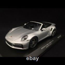 Porsche 911 Turbo S Cabriolet type 992 Gris argenté GT 2020 1/18 Minichamps 1550