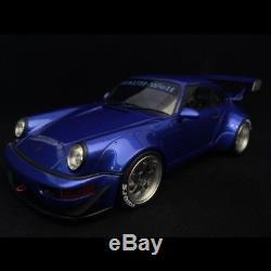 Porsche 911 type 964 RWB bleu nuit métallisé 1/18 GT SPIRIT ZM100