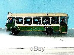 RARE AUTOBUS PARISIEN TNH4 CIJ 1937 en tole Très bel état d' usage