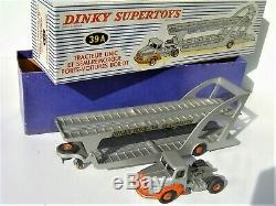 RARE AVEC LES 4 CALES! DINKY TOYS France 60's 39A Unic transport d'autos NEUF BO