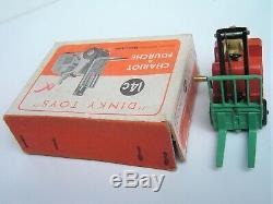 RARE BOITE! DINKY TOYS FRANCE (PAS GB) 50's 14C CHARIOT A FOURCHE pr. NEUF orig