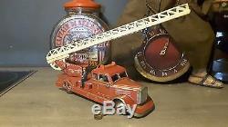 Rare Camion De Pompiers Ancien Gunthermann Germany + Boïte D Origine