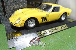 RARE FERRARI 250 GTO 1962 jaune 1/12 REVELL 08854 voiture miniature d collection
