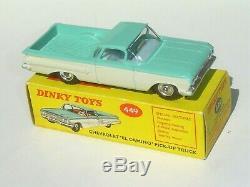 RARE INTERIEUR BLEU et ETAT NEUF Dinky Toys England 449 Chevrolet El Camino MIB