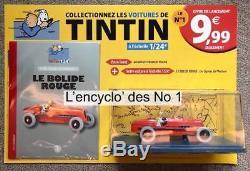 RARE LOT COMPLET Série Test Hachette Les 4 Voitures de Tintin au 1/24 ed. 2018