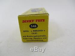 RARE OPEL REKORD TAXI DINKY TOYS 546 avec BOITE D'ORIGINE