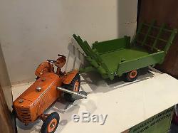 Rare Tracteur Renault Et Sa Remorque Cij