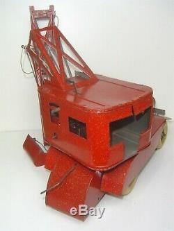 RARE ancien jouet tôle France 30's ROLLET camion-grue BOITE CR CIJ JRD JEP JdeP