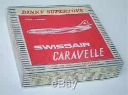 RARISSIME DINKY TOYS France 60's 891 B Caravelle SWISSAIR NEUF Boîte orig. TTBE