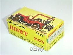 RARISSIME boîte EXPORT orig. DINKY TOYS France 60's 1412 D JEEP DEPANNAGE TTBE