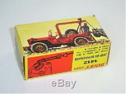RARISSIME boîte EXPORT orig. DINKY TOYS France 60's 1412 D JEEP DEPANNAGE TTBE