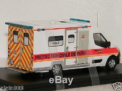 RENAULT MASTER 3 CAISSONS PROTECTION CIVILE DE PARIS PERFEX 1/43 Ref 401